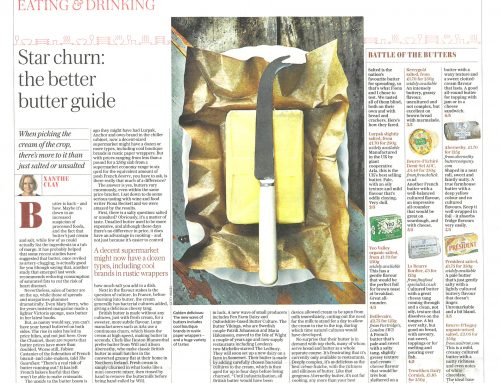 TREWITHEN BUTTER IS A FAVOURITE WITH SUNDAY TELEGRAPH