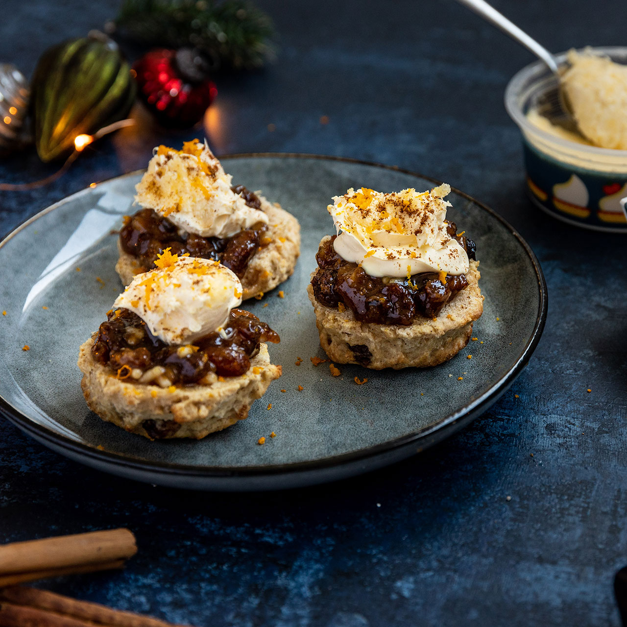Christmas Cream Tea with Spiced Clotted Cream